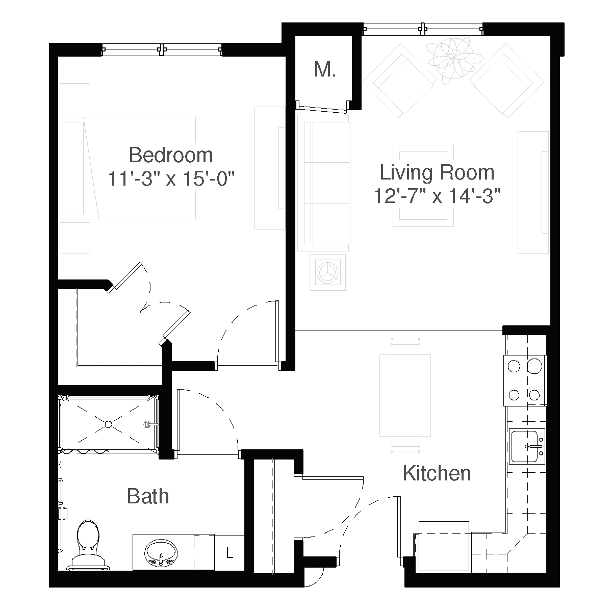 SilverCreek Assisted Living Floor Plan