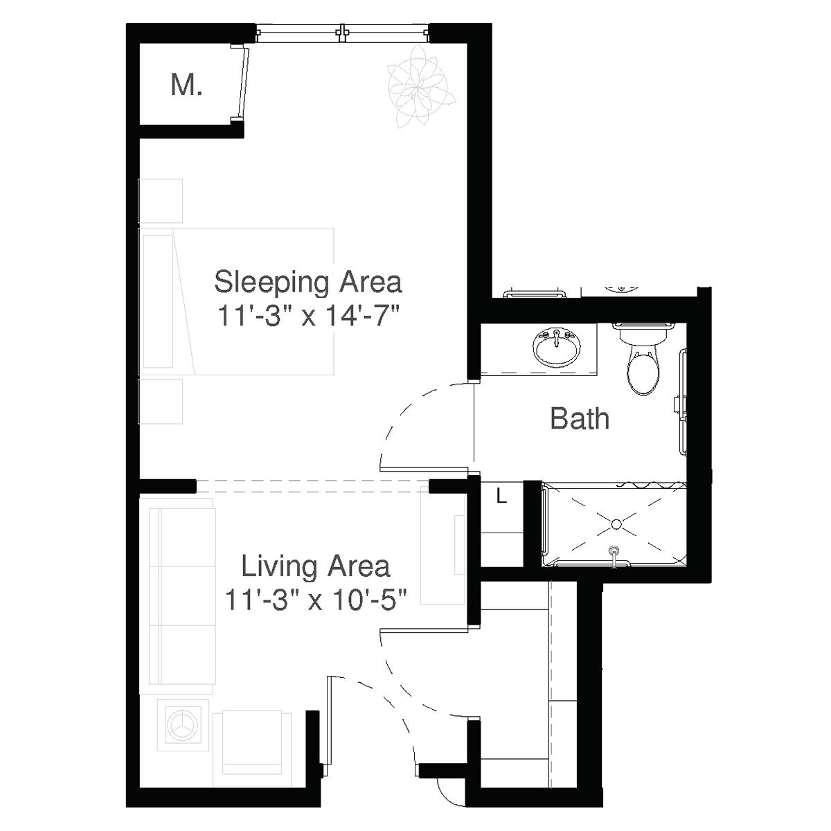 SilverCreek Dementia Care Floor Plan