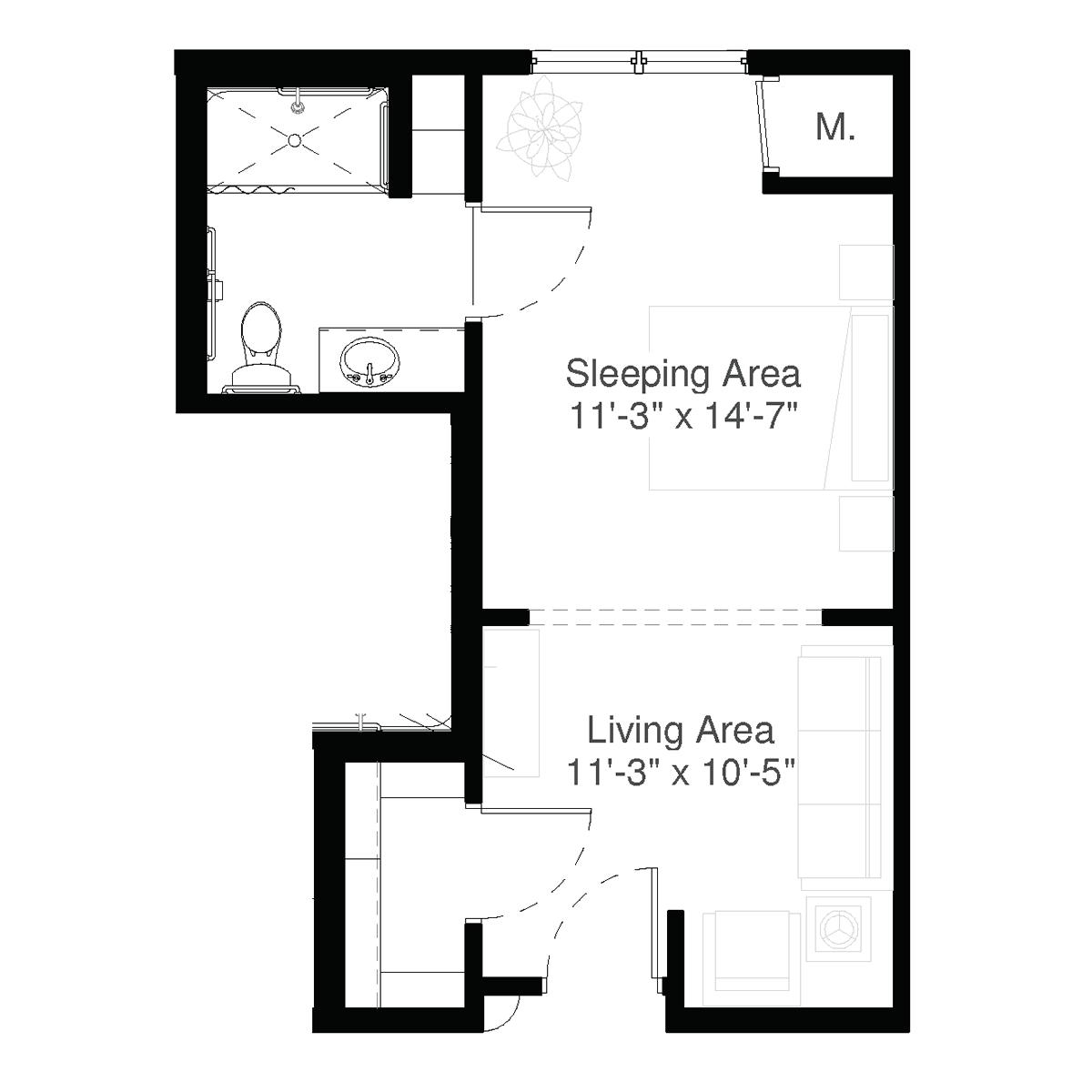 SilverCreek Enhanced Assisted Living Floor Plan