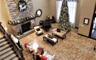 Christmas Themed Lobby at SilverCreek